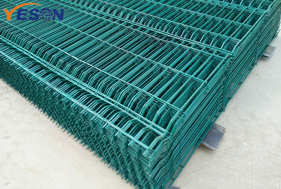 green pvc coated welded wire mesh panel